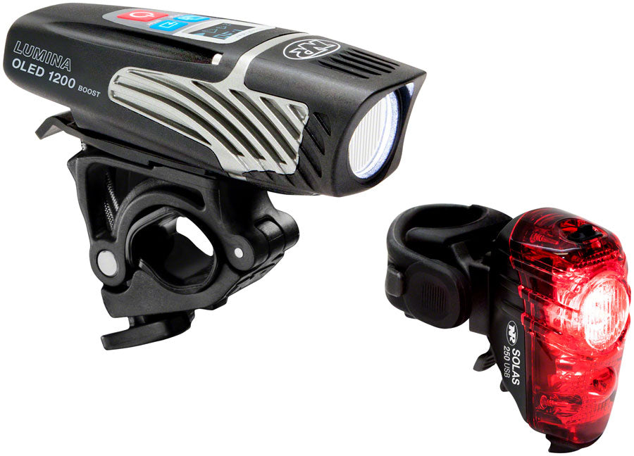 NiteRider Lumina OLED 1200 Boost and Solas 250 Headlight and Taillight Set