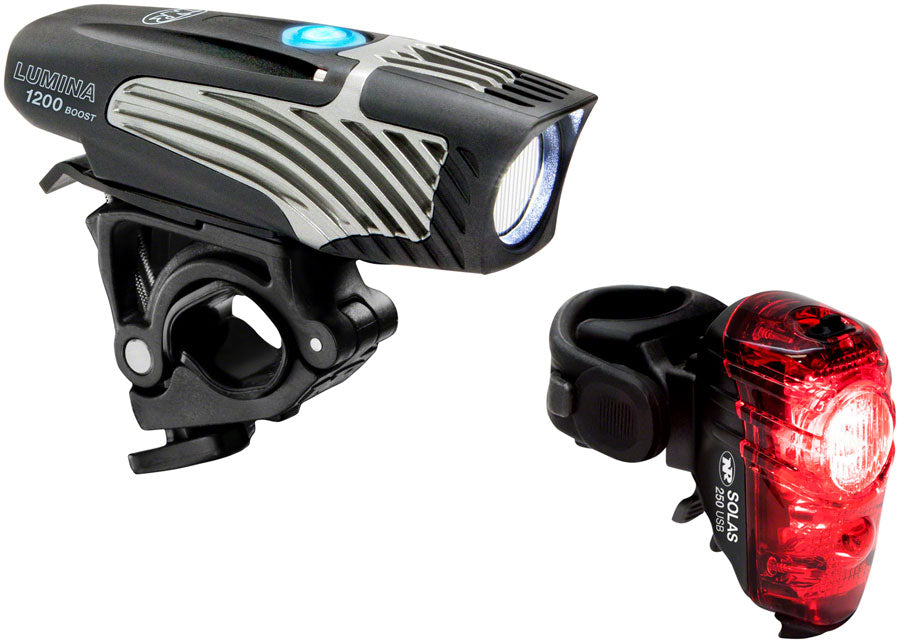 NiteRider Lumina 1200 Boost Headlight and Solas 250 Taillight Set