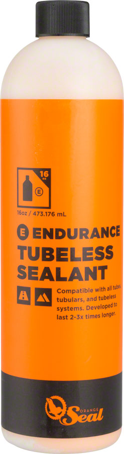 Orange Seal Endurance Tubeless Tire Sealant Refill - 16oz MPN: 60110 UPC: 810026601101 Tubeless Sealant Endurance Tubeless Tire Sealant