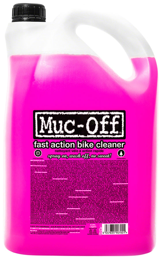 Muc-Off Nano Tech Bike Cleaner: 5L Pourable Bottle MPN: 907US Degreaser / Cleaner Nano Tech Cycle Cleaner