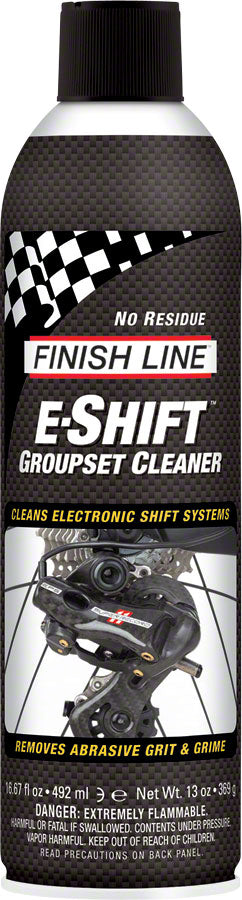 Finish Line E-Shift Cleaner Electronic Groupset Cleaner, 16oz Aerosol