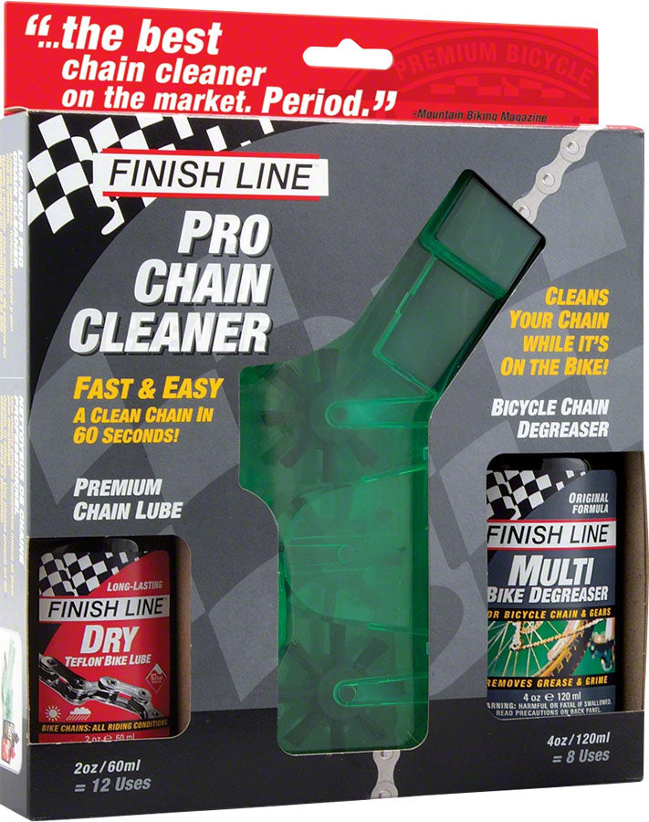 Finish Line Pro Chain Cleaner with 2oz DRY Lube and 4oz EcoTech Degreaser
