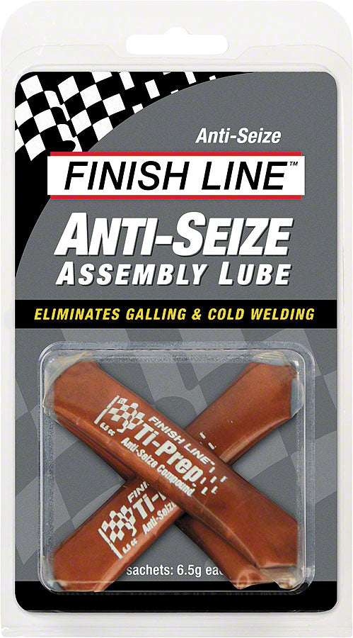 Finish Line Anti-Seize Assembly Lube, 3 x 6.5cc Sachets MPN: A03080101 UPC: 036121210011 Assembly Compound Anti-Seize