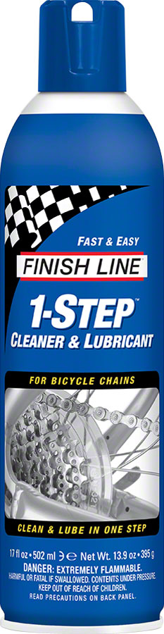 Finish Line 1-Step Cleaner and Chain Lubricant, 17oz Aerosol MPN: M00170101 UPC: 036121710306 Lubricant 1-Step
