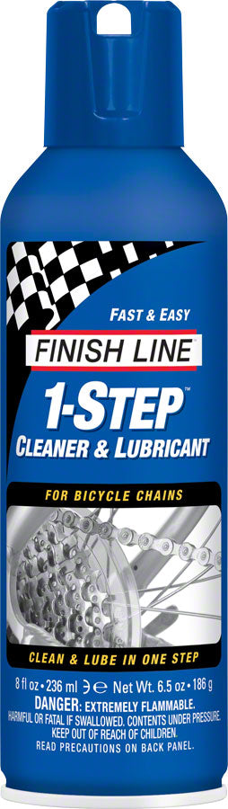 Finish Line 1-Step Cleaner and Chain Lubricant, 8oz Aerosol MPN: M00080101 UPC: 361217102902 Lubricant 1-Step