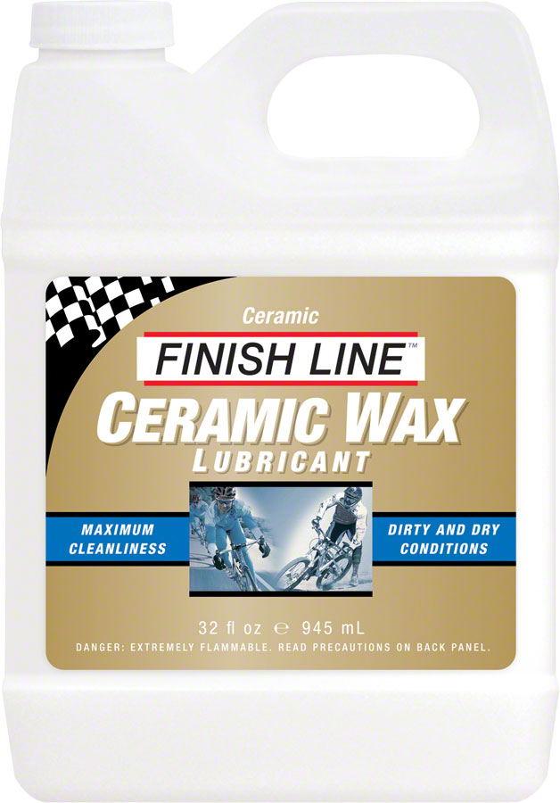 Finish Line Ceramic Wax Bike Chain Lube - 32 fl oz, Bulk MPN: CW0320101 UPC: 036121006096 Lubricant Ceramic Wax Bike Chain Lube