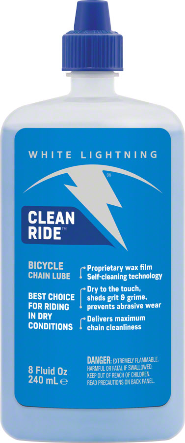White Lightning Clean Ride Chain Lubricant, 8oz Drip MPN: W50080102 UPC: 610990000180 Lubricant Clean Ride