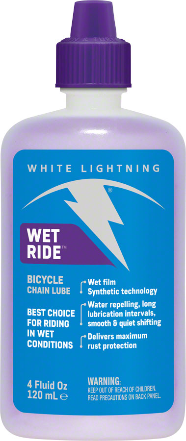 White Lightning Wet Ride Bike Chain Lube - 4 fl oz, Drip MPN: W59040102 UPC: 610990002009 Lubricant Wet Ride Bike Chain Lube