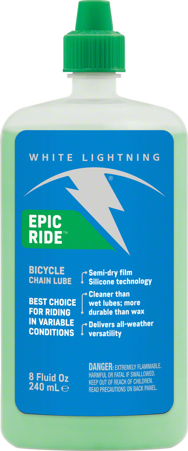 White Lightning Epic Ride, 8oz Drip All Condition Chain Lube