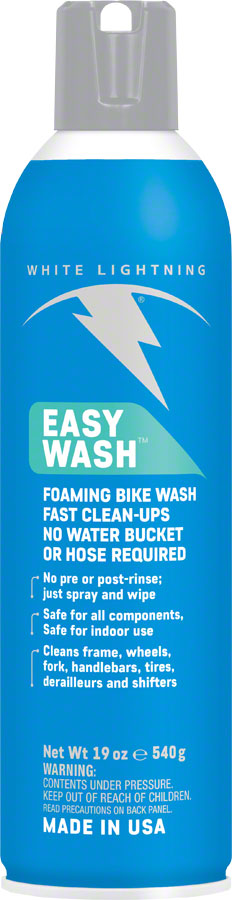 White Lightning Easy Wash Bike Cleaner, 19oz Aerosol
