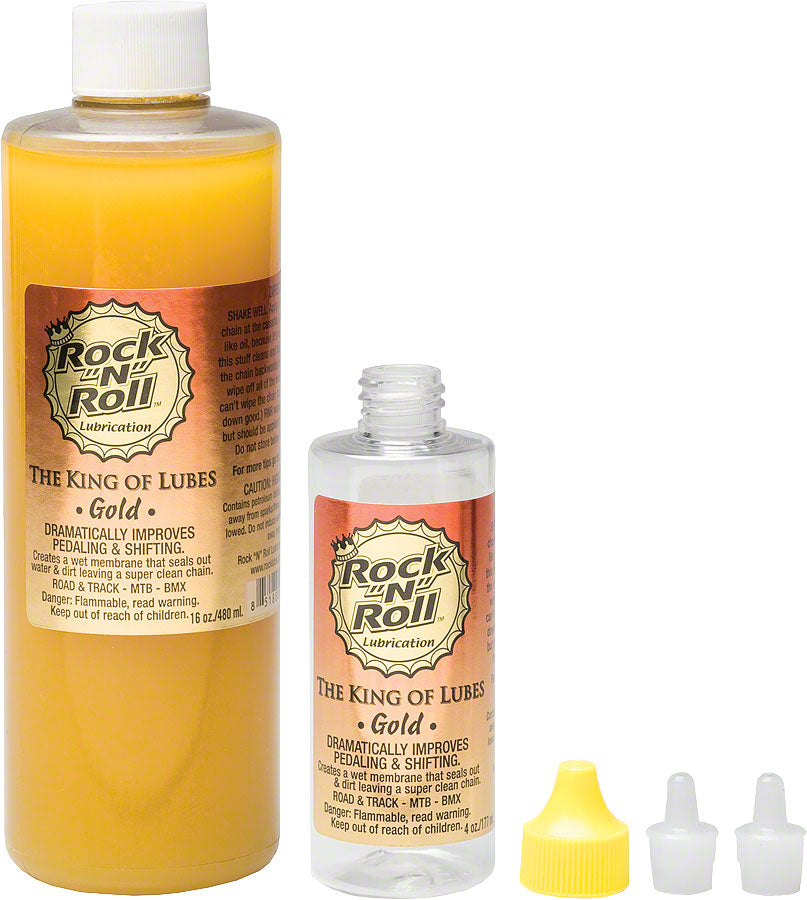 Rock-N-Roll Gold Bike Chain Lube - 16 fl oz, Drip MPN: GOLD 16 UPC: 851880001065 Lubricant Gold Bike Chain Lube