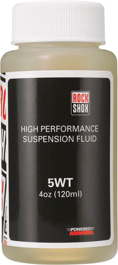 RockShox Suspension Oil, 5 Weight (5wt), 120ml Bottle, Fork Damper