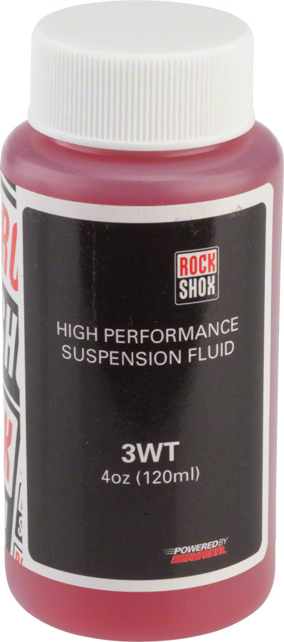 RockShox Suspension Oil 3 Weight (3wt) 120ml Bottle - Rear Shock Damper/Charger Damper