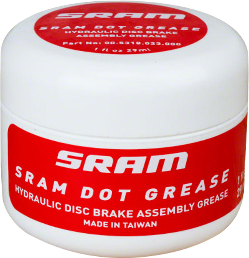 SRAM DOT Disc Brake Assembly Grease, 1oz MPN: 00.5318.023.000 UPC: 710845795527 Grease DOT Disc Brake Assembly Grease
