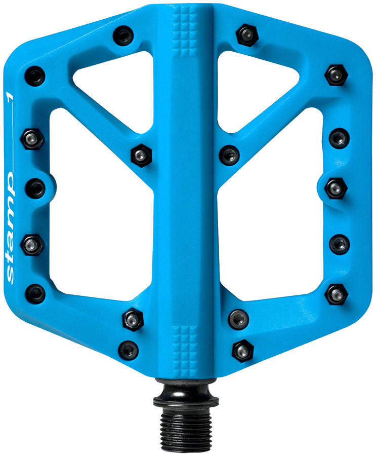 "Crank Brothers Stamp 1 Pedals - Platform, Composite, 9/16"", Blue, Small MPN: 16272 UPC: 641300162724 Pedals Stamp 1 Pedals"
