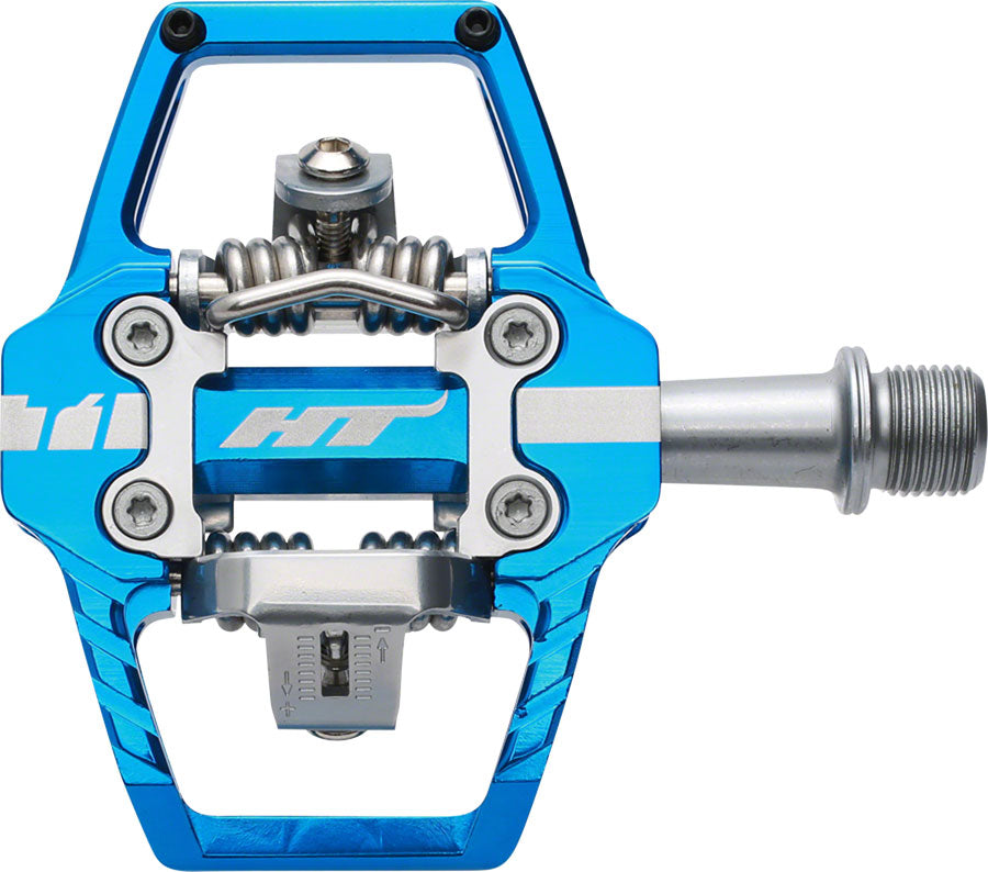 HT T1 Enduro Race Pedals - Dual Sided Clipless with Platform, Aluminum, 9/16