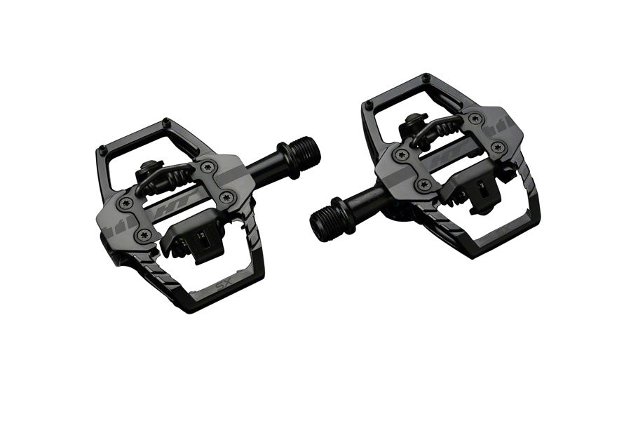 HT T1-SX BMX-SX Pedals - Dual Sided Clipless with Platform, Aluminum, 9/16