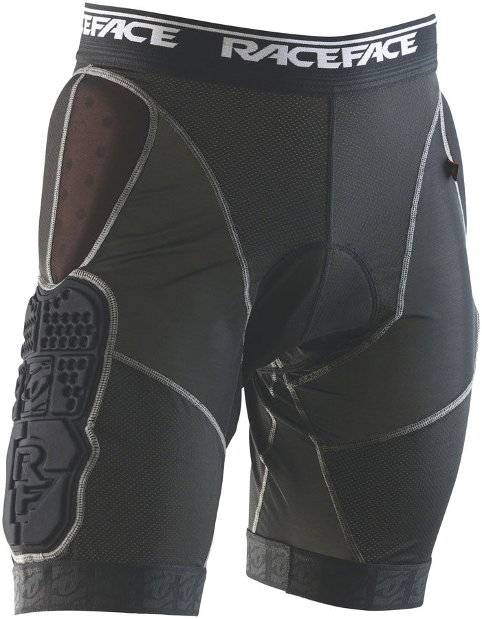 RaceFace Flank Short Liner with Hip Pad - Stealth, LG
