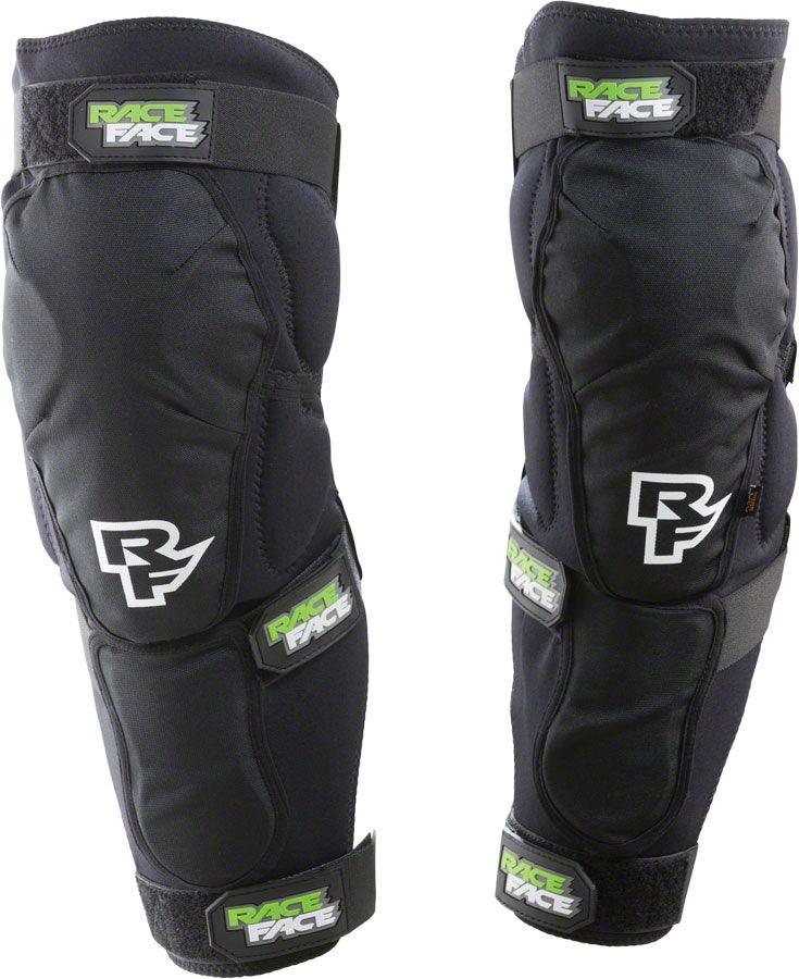 Race Face Flank Leg Guard: Black XL