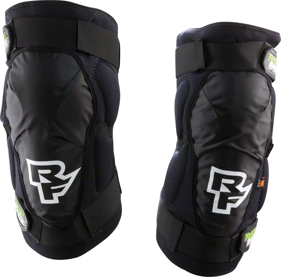 Race Face Ambush Knee Guard: Black Size Large LG Pair Left Right