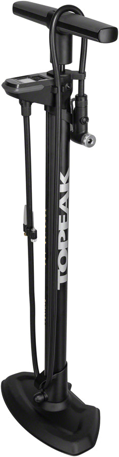 Topeak JoeBlow Pro Digital Floor Pump - 200psi / 13.8bar Digital Gauge, SmartHead DX3, Air Release Button, Black/Yellow - Floor Pump - JoeBlow Pro Digital Floor Pump