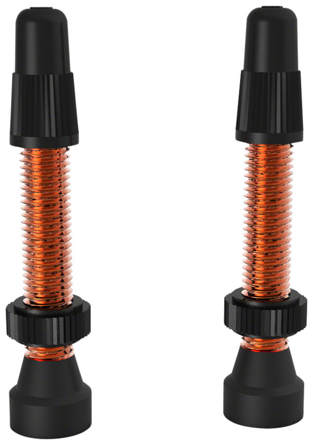 WTB Aluminum TCS Tubeless Valves: 34mm, Orange, Pair