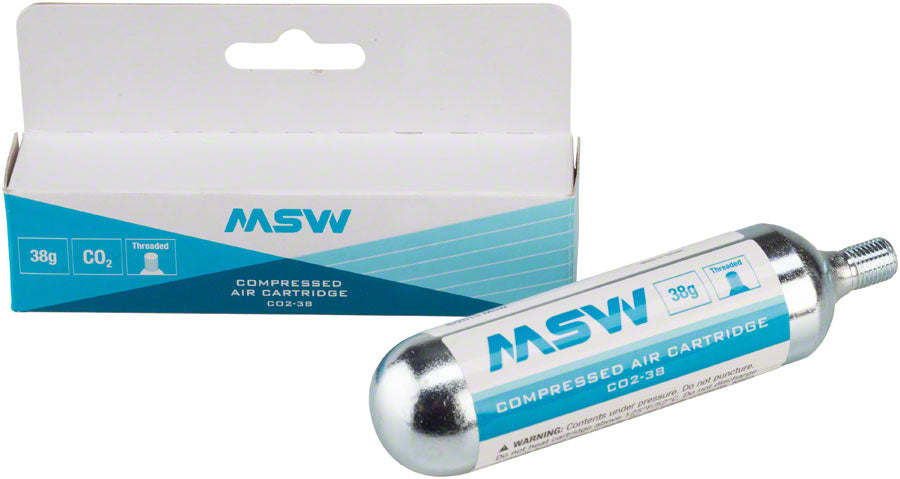 MSW CO2-38 CO2 Cartridge: 38g, Each - CO2 and Pressurized Cartridge - CO2-38