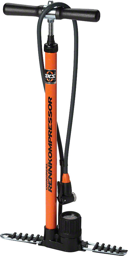 SKS Rennkompressor Floor Pump: Orange MPN: 10062 Floor Pump Rennkompressor Floor Pump