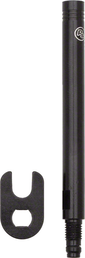 Problem Solvers Presta Valve Extender: Removable Core 70mm Black