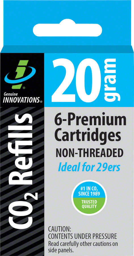 Genuine Innovations 20g Threadless Co2 Cartridges: 6-Pack