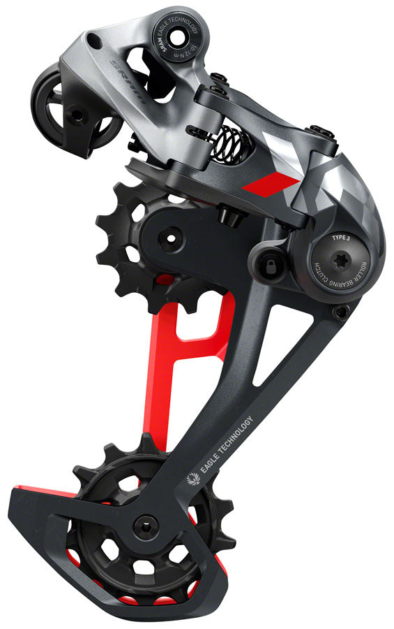 SRAM X01 Eagle Rear Derailleur - 12 Speed, Red Max 52T 520% Range