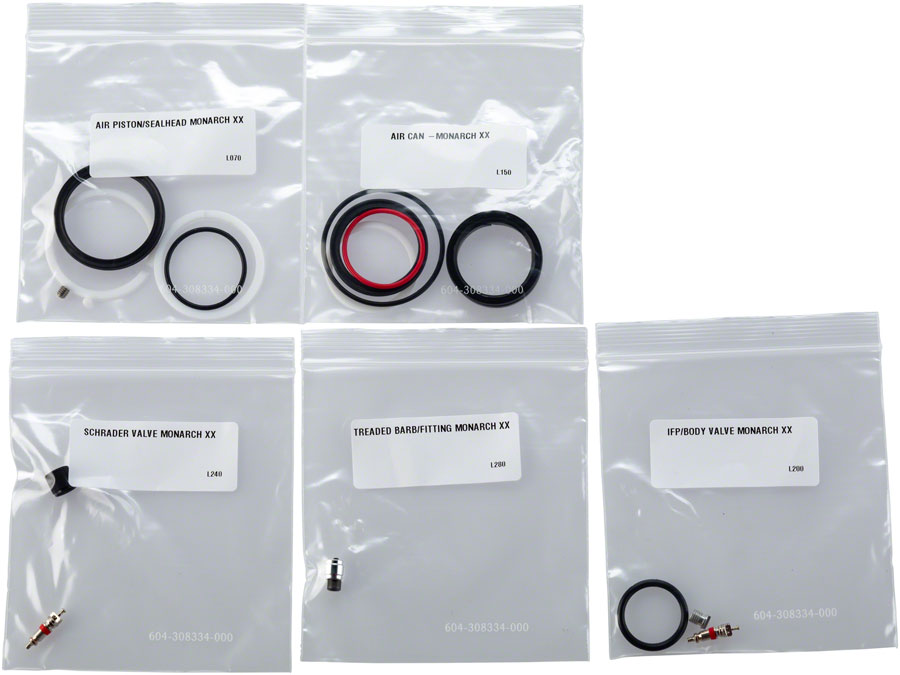 RockShox Bicycle Suspension Monarch AutoSag Basic Air Can Service Kit 00.4315.032.480