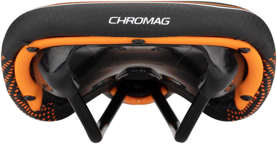 Chromag Trailmaster DT Saddle - Chromoly, Black/Orange - Saddles - Trailmaster DT Saddle