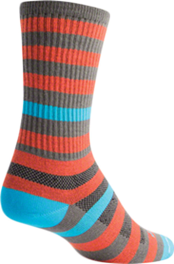 SockGuy Metro Sock: Orange/Gray LG/XL