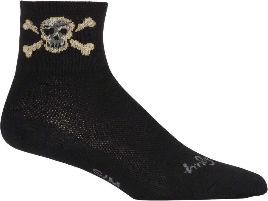 SockGuy Pirate Sock: Black LG/XL
