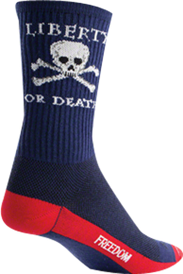 SockGuy Liberty or Death Sock: Blue LG/XL