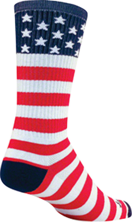 SockGuy USA Flag Sock: Red/White/Blue LG/XL