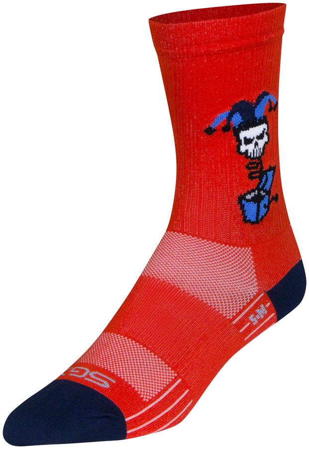 SockGuy SGX Boing Socks - 6 inch, Red, Small/Medium