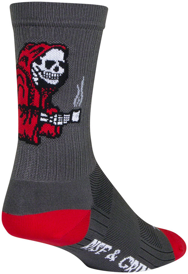 SockGuy SGX Rise and Grind Socks - 6 inch, Gray, Small/Medium