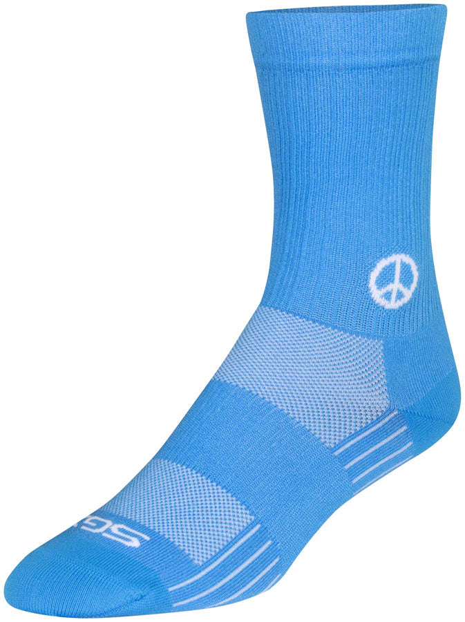 SockGuy SGX Peace Now Socks - 6 inch, Blue, Large/X-Large