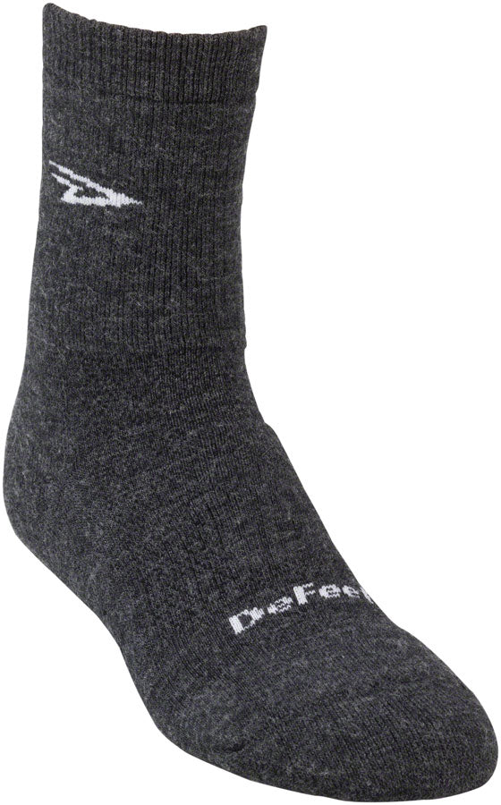 DeFeet Woolie Boolie D-Logo Socks - 4 inch, Charcoal, X-Large