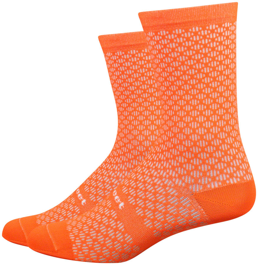 DeFeet Evo Mont Ventoux Socks - 6 inch, Hi-Vis Orange, Medium