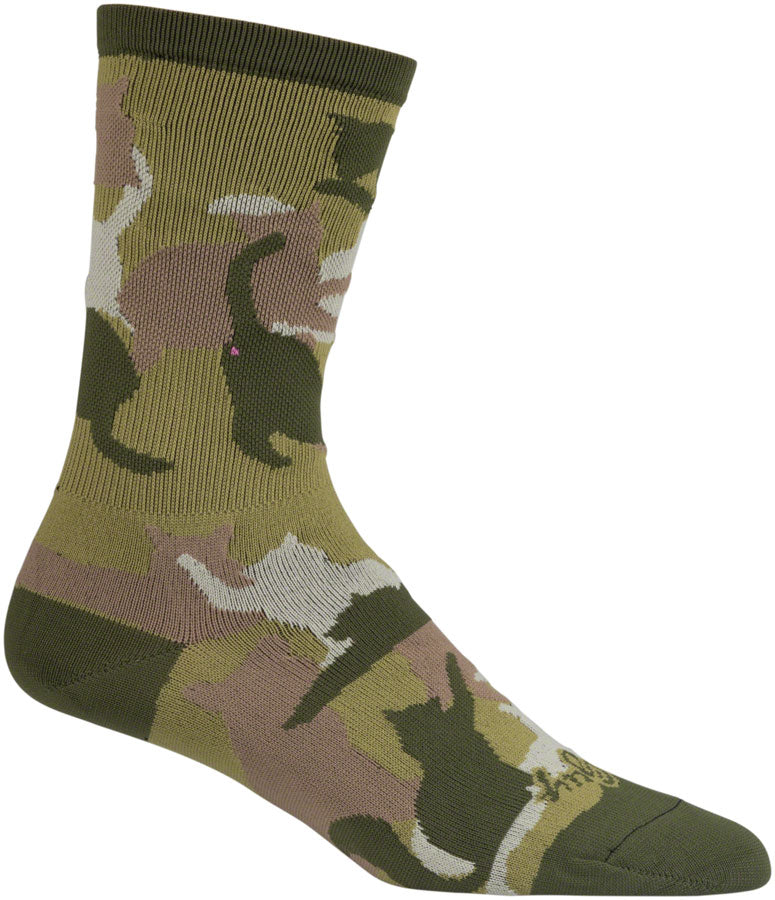 SockGuy Crew Catmo Socks - 5 inch, Green, Large/X-Large