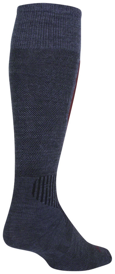 SockGuy Mountain Flyweight Wool Socks - 12 inch, Denim, Small/Medium