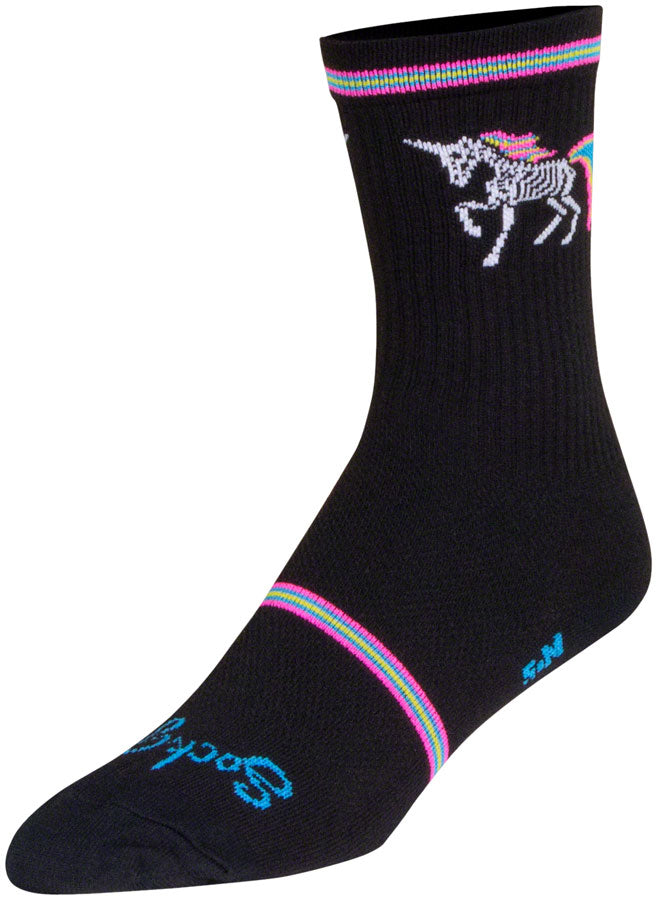 SockGuy Dark Magic Crew Socks - 6 inch, Black/Multi, Small/Medium - Sock - Crew Socks