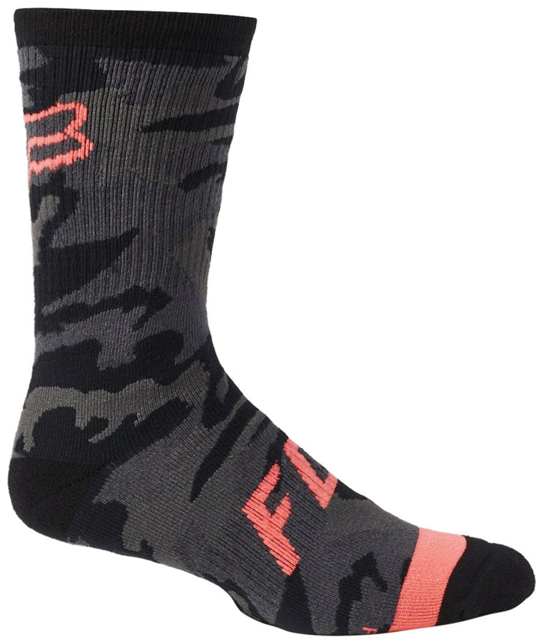 Fox Racing Defend Sock - Black Camo, 8