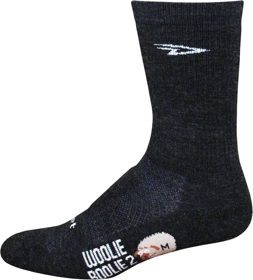 DeFeet Woolie Boolie Socks - 6 inch, Charcoal, Large