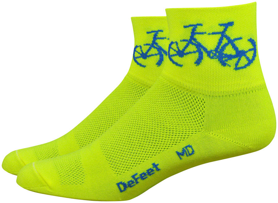 DeFeet Aireator Townee Socks - 3 inch, Hi-Vis Yellow, Medium