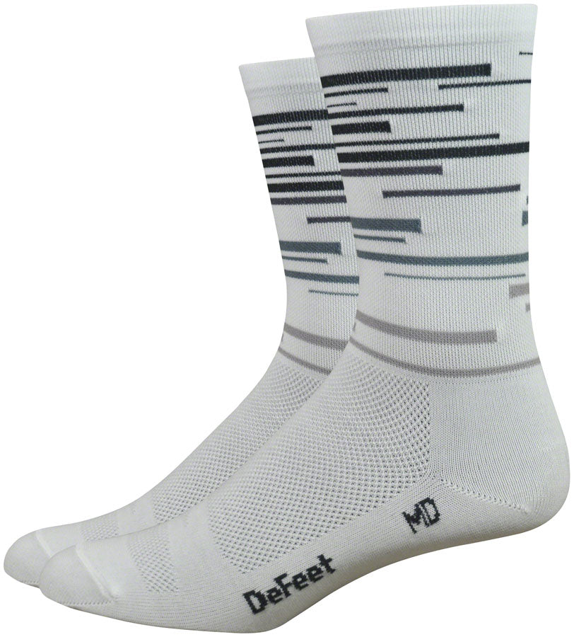 DeFeet Aireator DNA Socks - 6 inch, White/Gray, Large MPN: AIRTDNAWT301 UPC: 682864806129 Sock Aireator High Socks