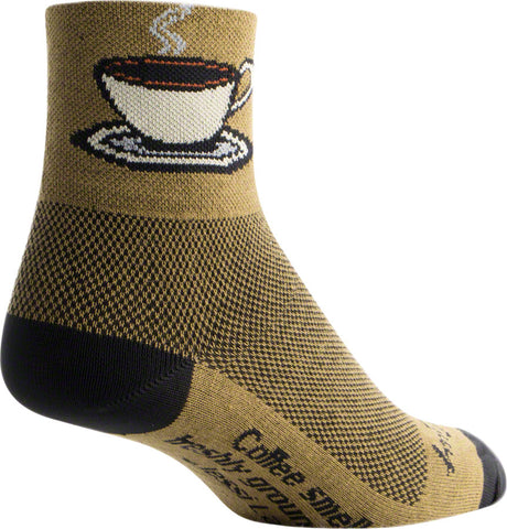 Black//Red Stripe SM//MD SockGuy Classic Busted Sock